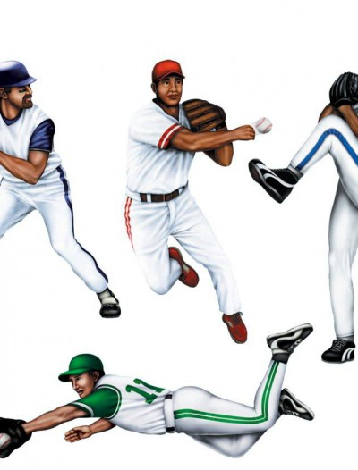 Assorted Baseball Cutouts (4 count)