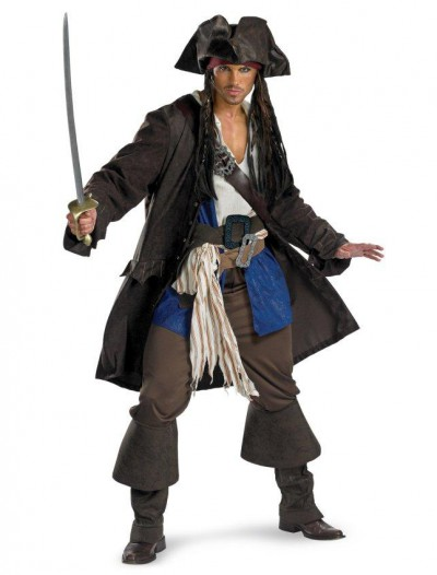 Pirates of the Caribbean Captain Jack Sparrow Prestige Adult Plus Costume