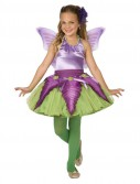 Purple Flower Fairy Child Costume