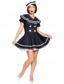 Pin-up Captain Adult Costume - Clearance Size XS and XL