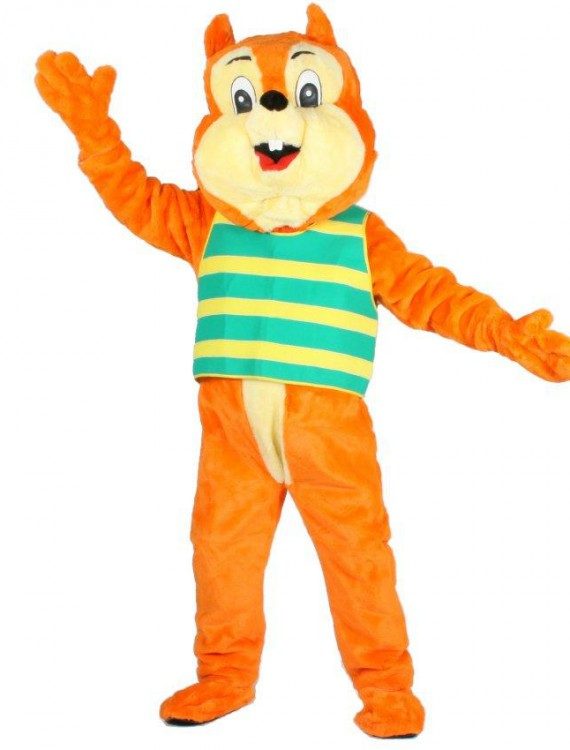 Nut E. Squirrel Mascot Adult Costume