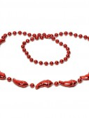 Mini Chili Pepper Bead Necklaces (6 count)