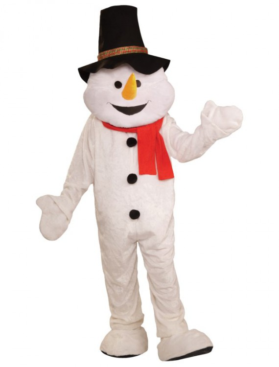 Snowman Plush Economical Mascot Adult Costume