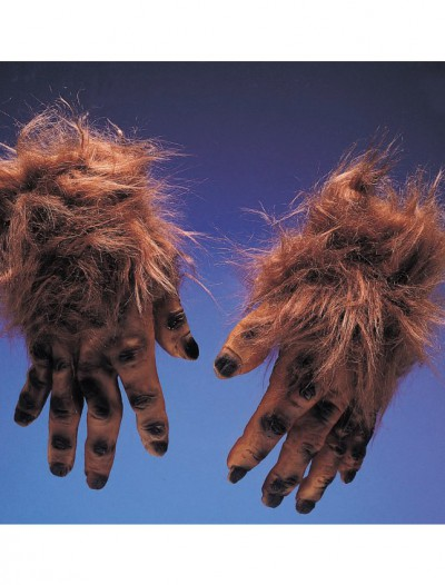 Werewolf Brown Hairy Hands Adult
