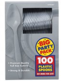 Silver Big Party Pack - Spoons (100 count)