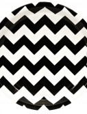 Chevron Black Dinner Plates (8 count)