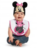 Pink Minnie Mouse Bib Hat