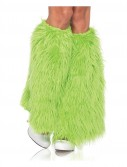 Furry Green Leg Warmers (Adult)