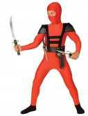 Red Fighter Ninja Child Costume