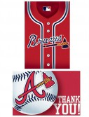 Atlanta Braves Baseball - Invitation and Thank You Combo (8 each)