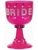 Bachelorette Hot Pink Bride Goblet