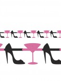 Bachelorette Party - Martini and Heels Jointed Glitter Garland
