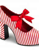 Candycane Heel with Red Bow Adult Shoes