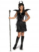 Maleficent Deluxe Black Tween/Teen Gown and Headpiece
