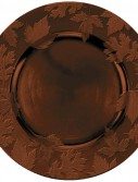 Round Embossed Charger - Brown