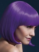 Fever Elise Short Neon Purple Wig With Bangs