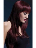 Fever Sienna Long Black Cherry Wig With Bangs