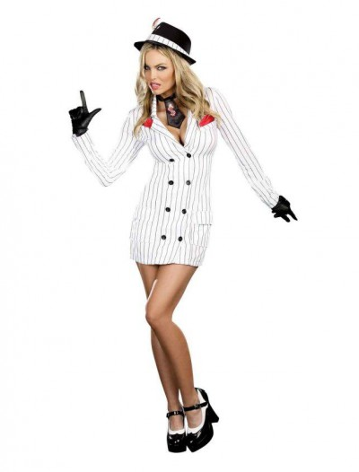 Smooth Criminal Adult Gangster Gal Costume
