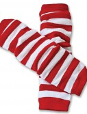 Red and White Leg Warmers (1 pair)