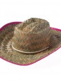 Cowgirl Hat with Pink Trim