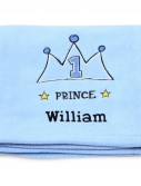 Lil Prince Applique Fleece Blanket - Embroidered