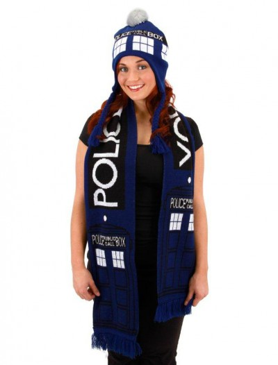 Tardis Doctor Who Scarf