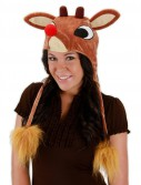 Light Up Rudolph Hat