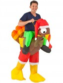 Inflatable Rider - Adult Turkey Costume