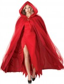 Devilish Red Adult Costume Cape