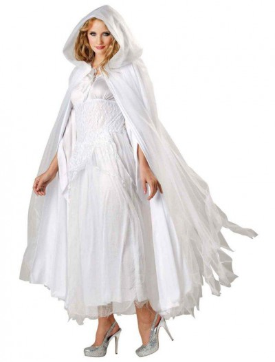 Haunted Ghostly White Costume Cape