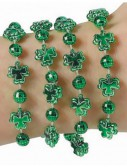 Small Shamrock Bead Bracelets (4 count)