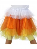 Deluxe Candy Corn Glitter Skirt