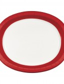 Classic Red Rim Oval Platters (8 count)