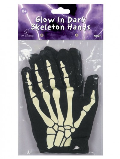 Glow In The Dark Skeleton Hands Child