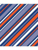 Navy and Orange Printed Beverage Napkins (16)