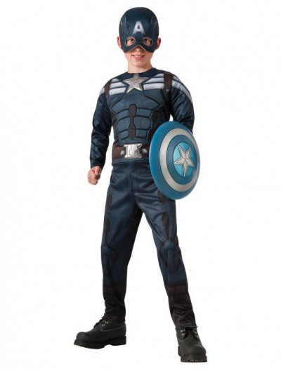 Captain America Winter Soldier - 2-1 Reversible Stealth/ Retro Captain America Child Costume