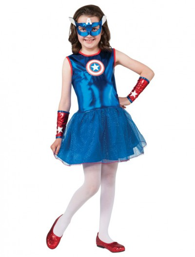 Marvel Captain America Girl Costume