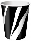 Zebra Stripes 9 oz. Cups (8)