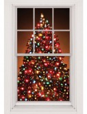 Christmas Tree Window Scene