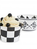 Black White Check Reversible Cupcake Wrappers (12 count)