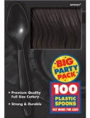 Black Big Party Pack - Spoons (100 count)