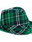 Green Plaid Fedora Hat