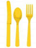 Yellow Sunshine Forks  Knives Spoons (8 each)