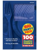 Bright Royal Blue Big Party Pack - Forks (100 count)