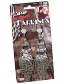 Vintage Hollywood Three Level Rhinestone Adult Earrings