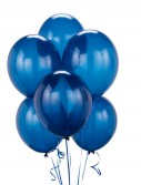 Crystal Blue Latex Balloons (6 count)
