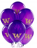 Washington Huskies - Latex Balloons (10 count)
