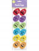 Easter Funny Face Small Plastic Easter Eggs (12 count)