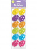 Easter Polka Dot Small Plastic Easter Eggs (12)